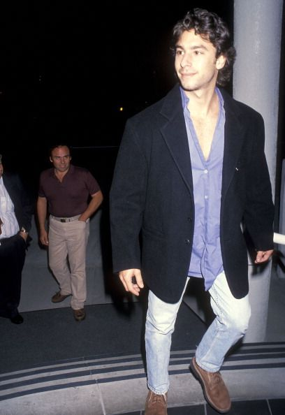 Jason Gould attends the 'In the Soup' Premiere Party on November 4 1992 at Melrose Place Restaurant in West Hollywood California