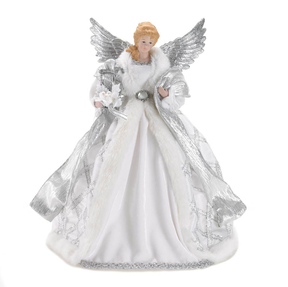 Exceptionnel This Beautiful Angel Holiday Tree Topper Has The Look Of A Timeless  Treasure. Description From
