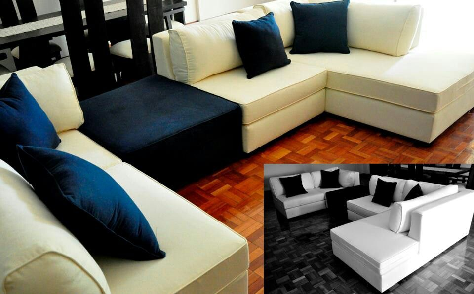 Sectional sofa ideas. A square table where the black seat is ...