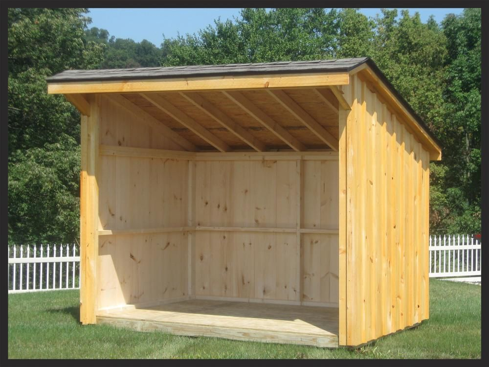 Easily Assemble One Of Our Stylish Wood Sheds With Precut Lumber Kits Wood Sheds Wood Shed Home Depot Shed Firewood Shed