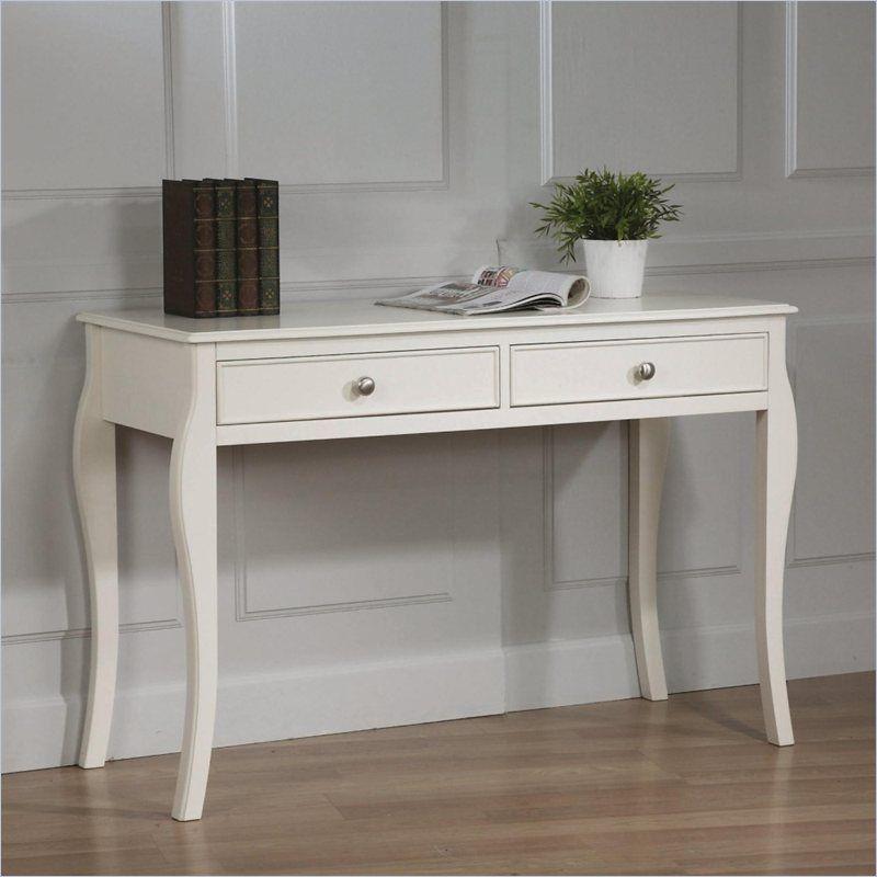 Coaster Dominique Table Desk In White   400567   $196 7 5 14 Cymax