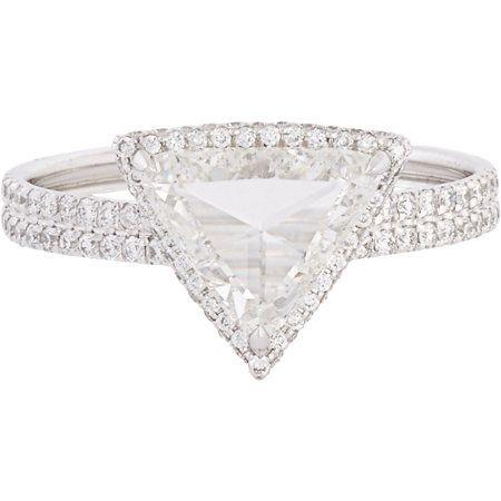 Monique Péan Minéraux Trillion Diamond & Platinum Ring at Barneys.com