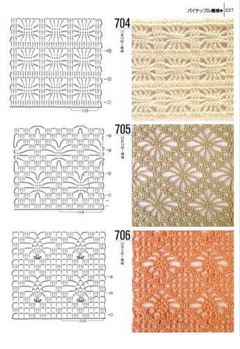Tantissimi punti uncinetto con schema crochet stitch for Schemi borse uncinetto