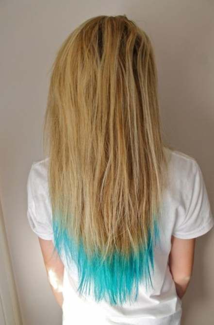 Trendy Hair Dyed Tips Blue Dyes 34 Ideas Hair Blonde Dip Dye