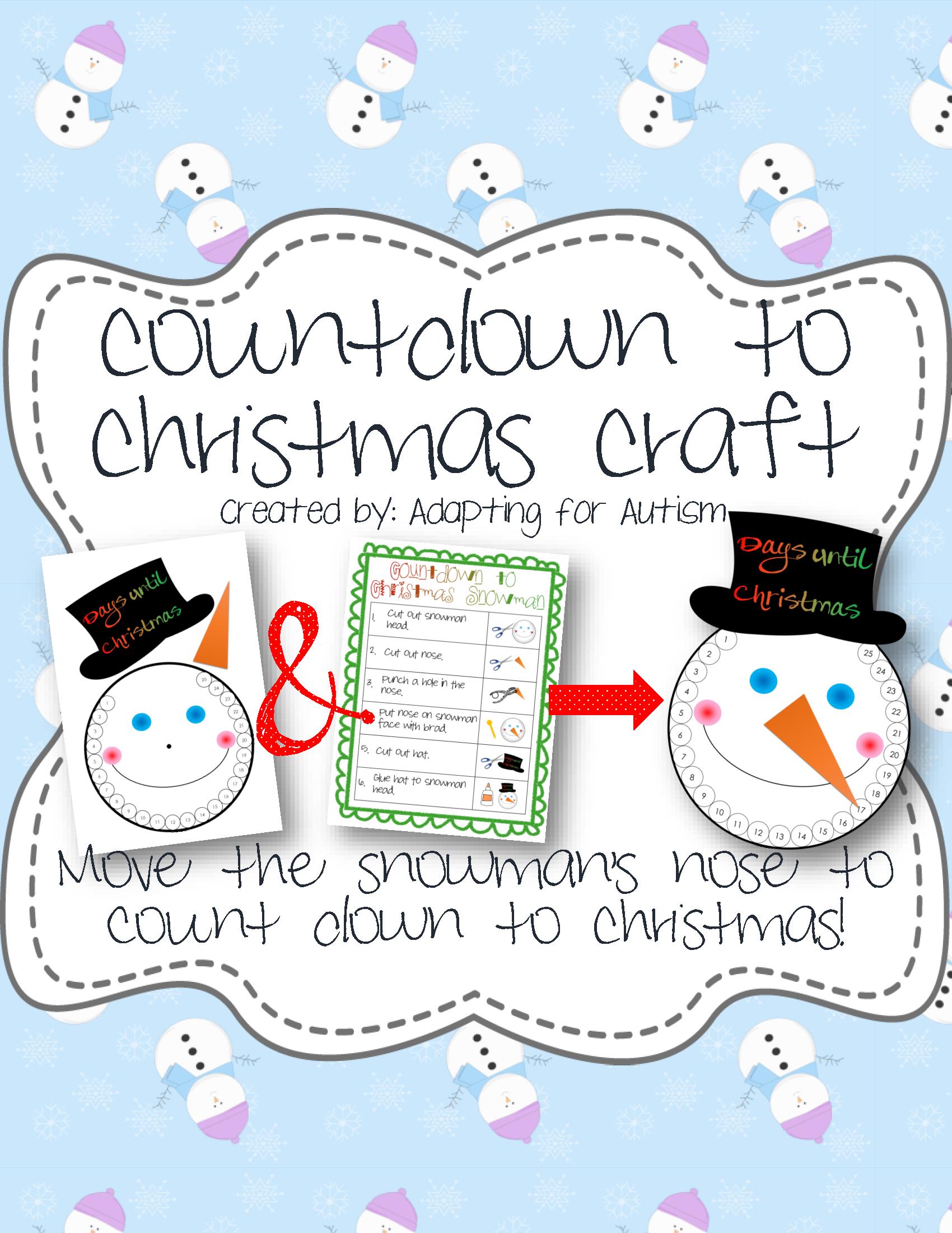 Countdown To Christmas Snowman Craft