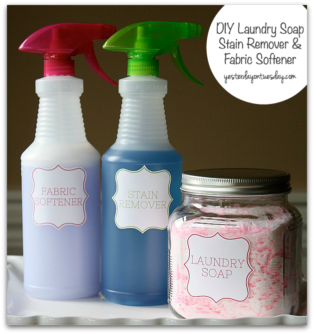 Diy laundry soap stain remover and fabric softener from http diy laundry soap stain remover and fabric softener from httpyesterdayontuesday solutioingenieria Images