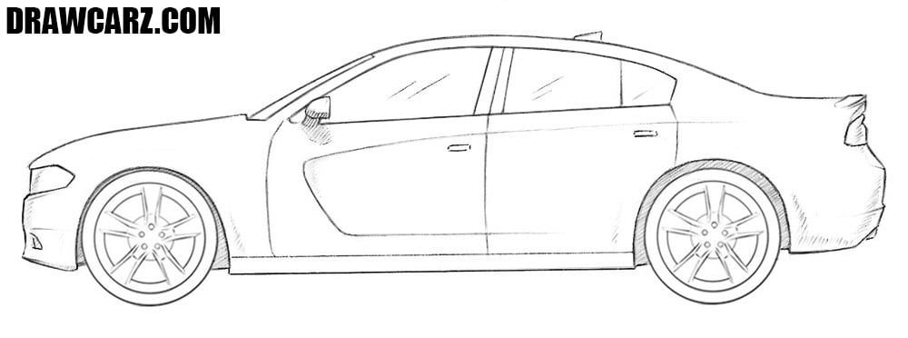 How To Draw A Dodge Charger Dodge Charger Racing Car Design Dodge