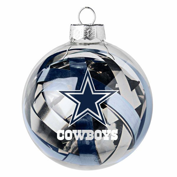 $7.99 Dallas Cowboys Large Tinsel Ball Ornament - Dallas Cowboys Large Tinsel Ball Ornament Dallas Cowboys Christmas