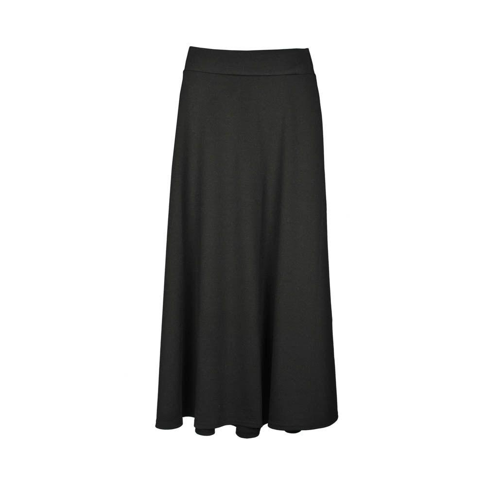 a59cee003 Pollera de mujer, negra a la cintura larga. | vestidos | Polleras ...