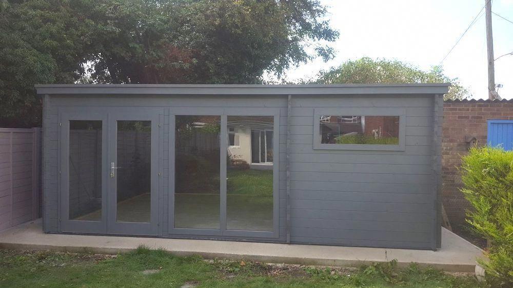 Flow Garden Office Log Cabin 5.95m x 4m with... | Garden ...