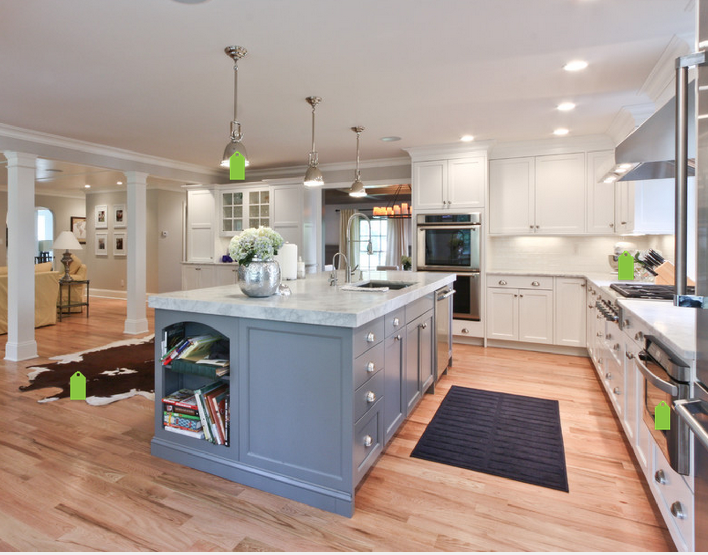 Blue This Is Not Paint It S A Brookhaven Cabinets Color It S Part Of The Designer Series I Think Custom Kitchen Island Dream Kitchen Island Kitchen Remodel