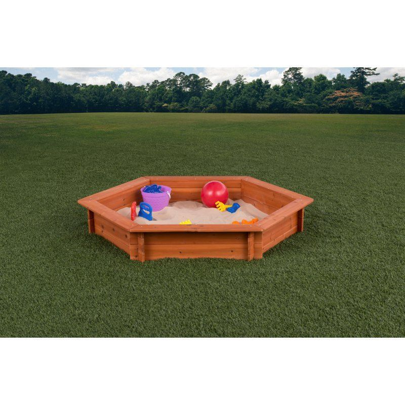 Oakley Hexagonal Sand Box with Rain Cover u0026 Lining Sw.  sc 1 st  Pinterest & Creative Cedar Designs Hexagonal Sand Box - MA7118 | Sandbox Kit ...