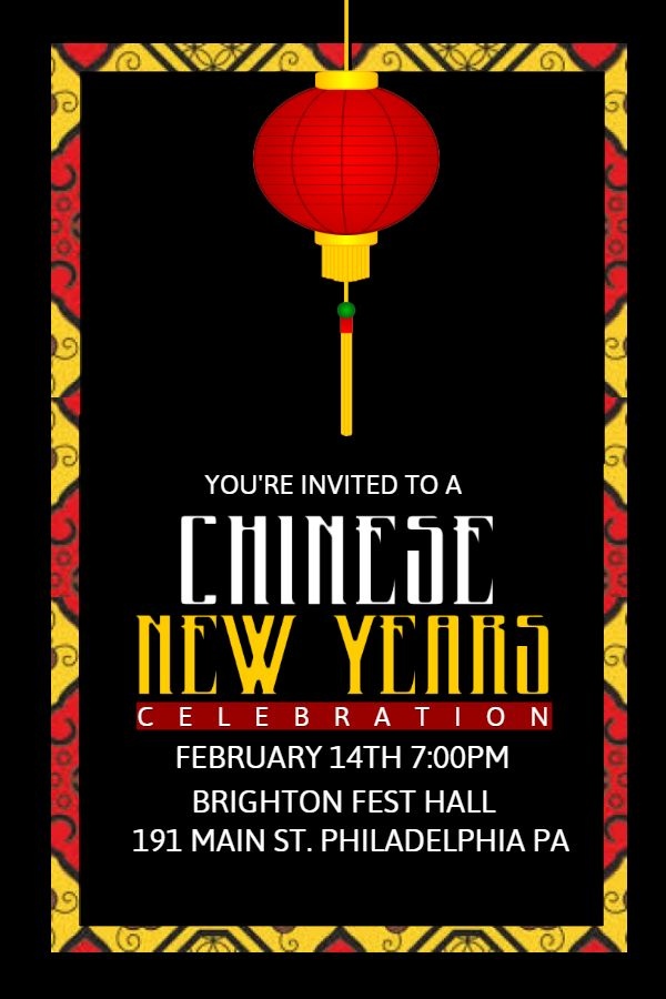 Chinese New Year Poster Template Click To Customize  Chinese