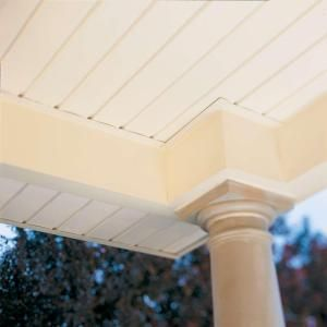 Ply Gem 12 75 In X 0 5 In Rectangular White Weather Resistant Vinyl Soffit Vent Evs12n04h The Home Depot Vinyl Soffit Porch Ceiling White Vinyl