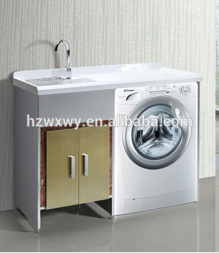 Meuble lavabo avec machine laver de blanchisserie for Meuble machine a laver