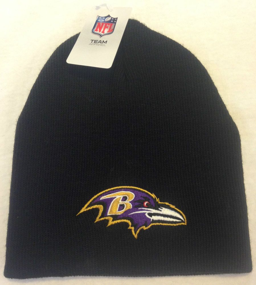 51ac999ea New NFL BALTIMORE RAVENS Black Beanie Knit Ski Hat Football Team Logo Winter  Cap #NFLTeamApparel #BaltimoreRavens