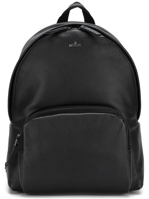 HOGAN front pocket backpack. #hogan #bags #leather #backpacks #