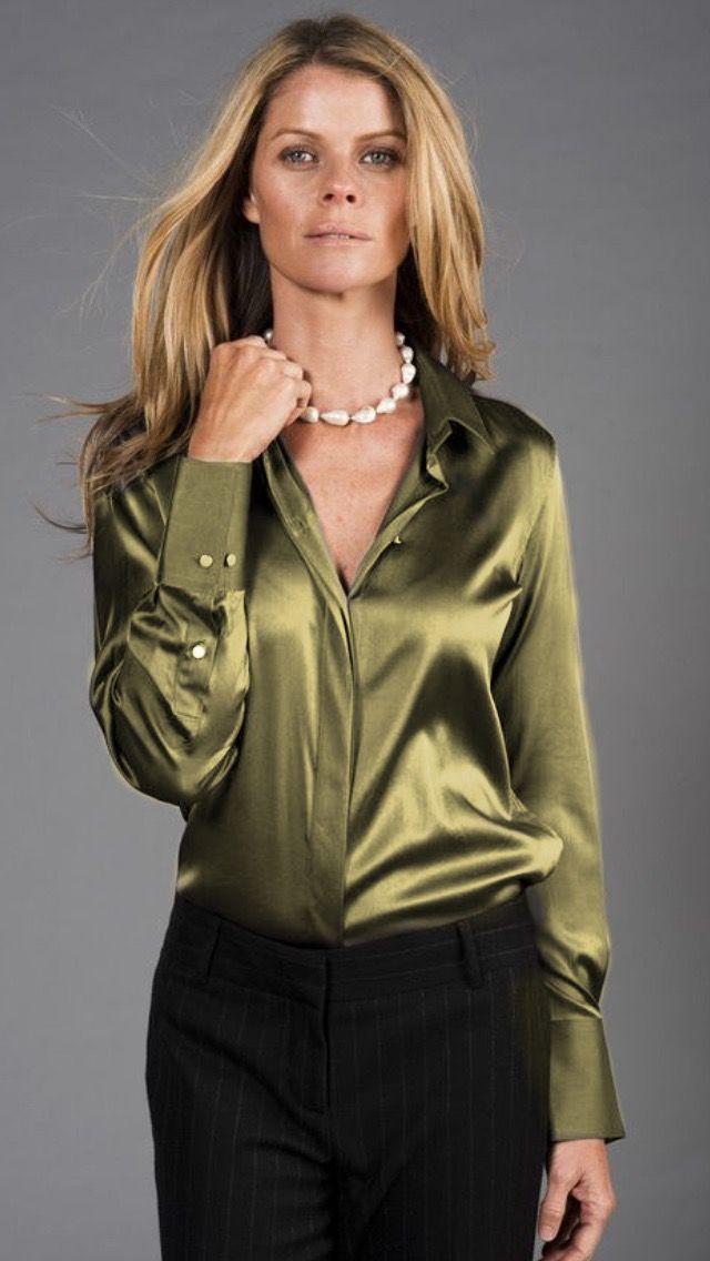 474743f8ba96 Pin de Cony en Vestidos | Camisas de seda, Blusa elegante y Short ...