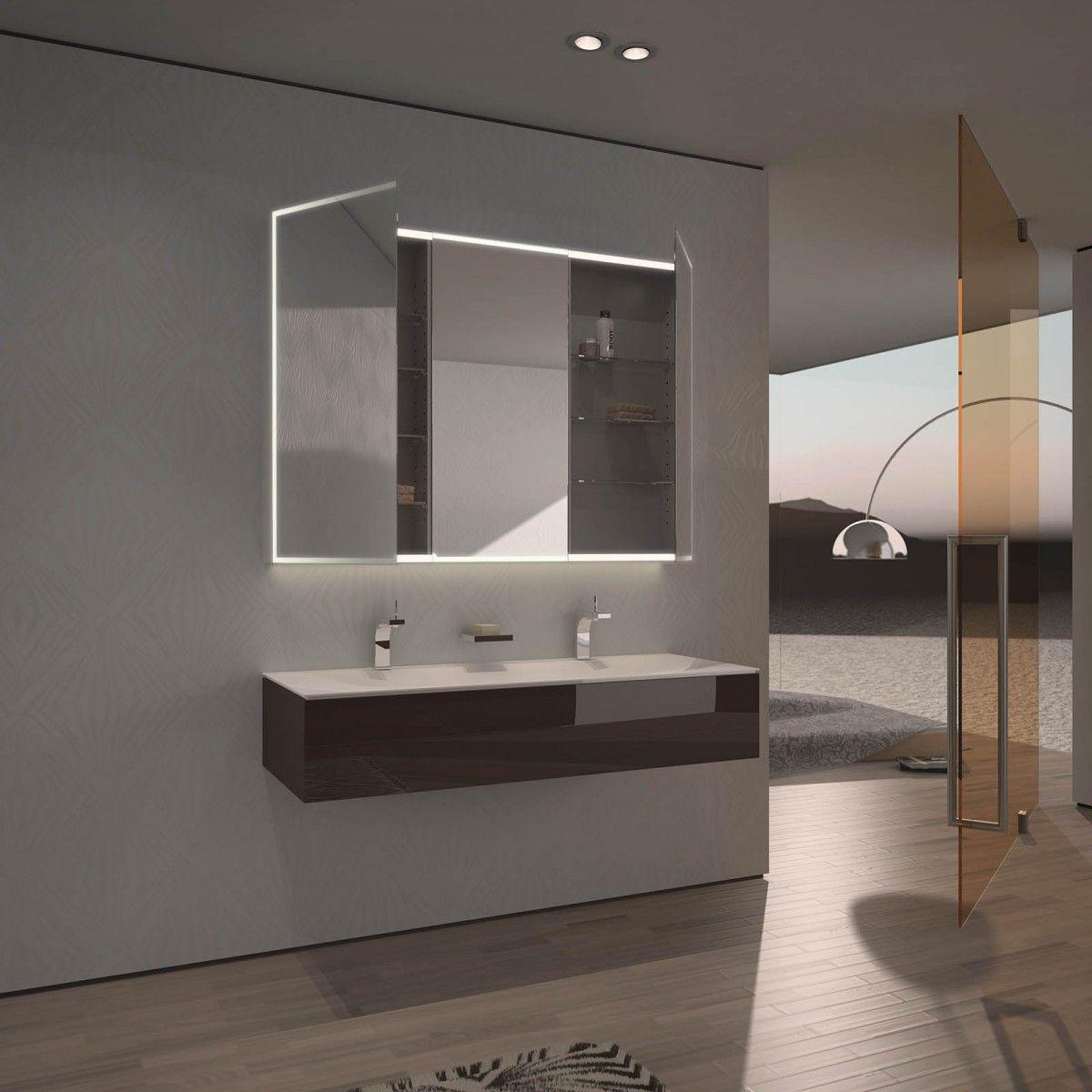 Spiegelschrank Nach Mass Mit Led Beleuchtung Aurel Badezimmer