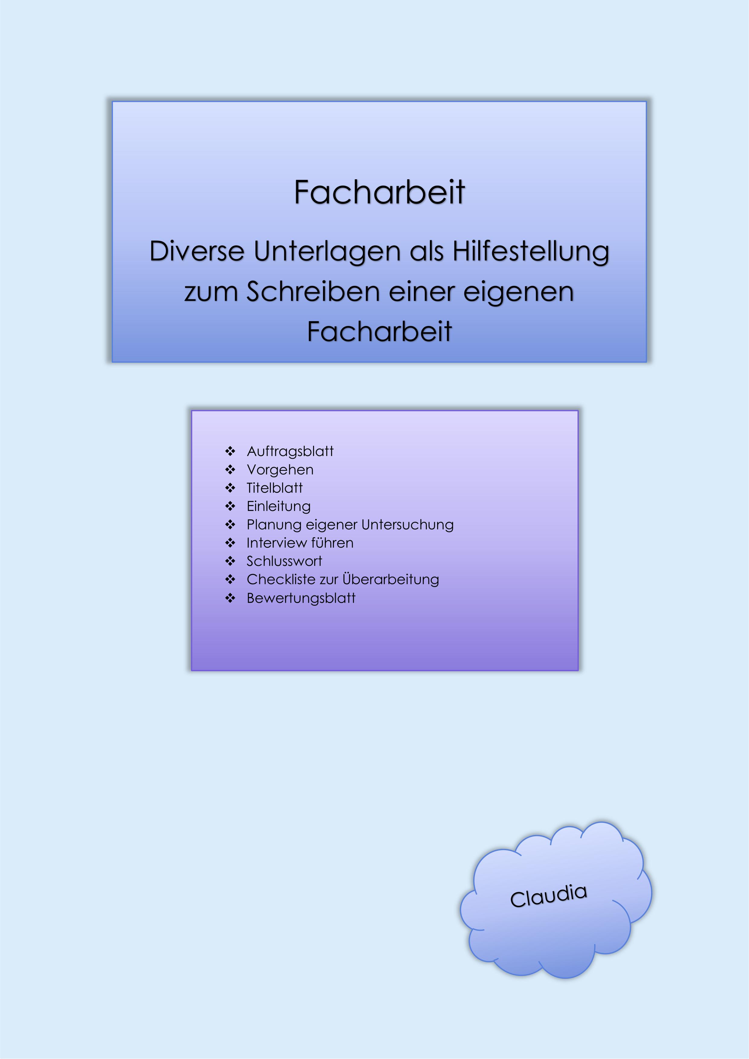 Dossier Facharbeit Unterrichtsmaterial In Den Fachern Deutsch Fachubergreifendes In 2020 Facharbeit Erzieher Arbeit Lernen