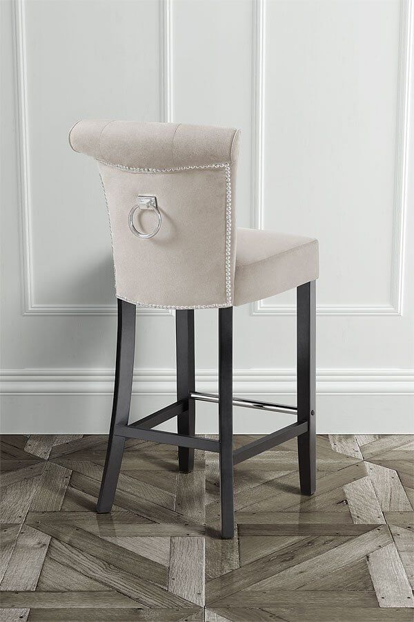 95a15fcc203d ... at Tesco direct. Positano Cream Bar Stool ring back velour – my  furniture