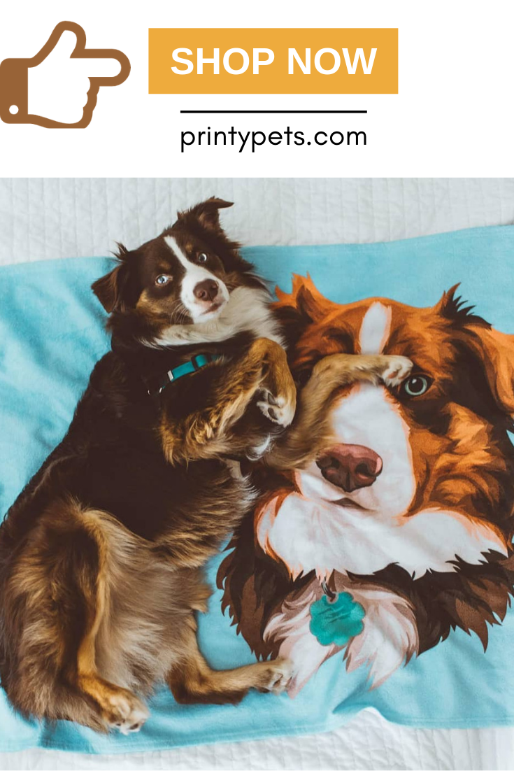 Custom Pet Print Fleece Blanket Pets Print Fleece Blanket