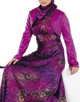 Purple #Hijab Dress.