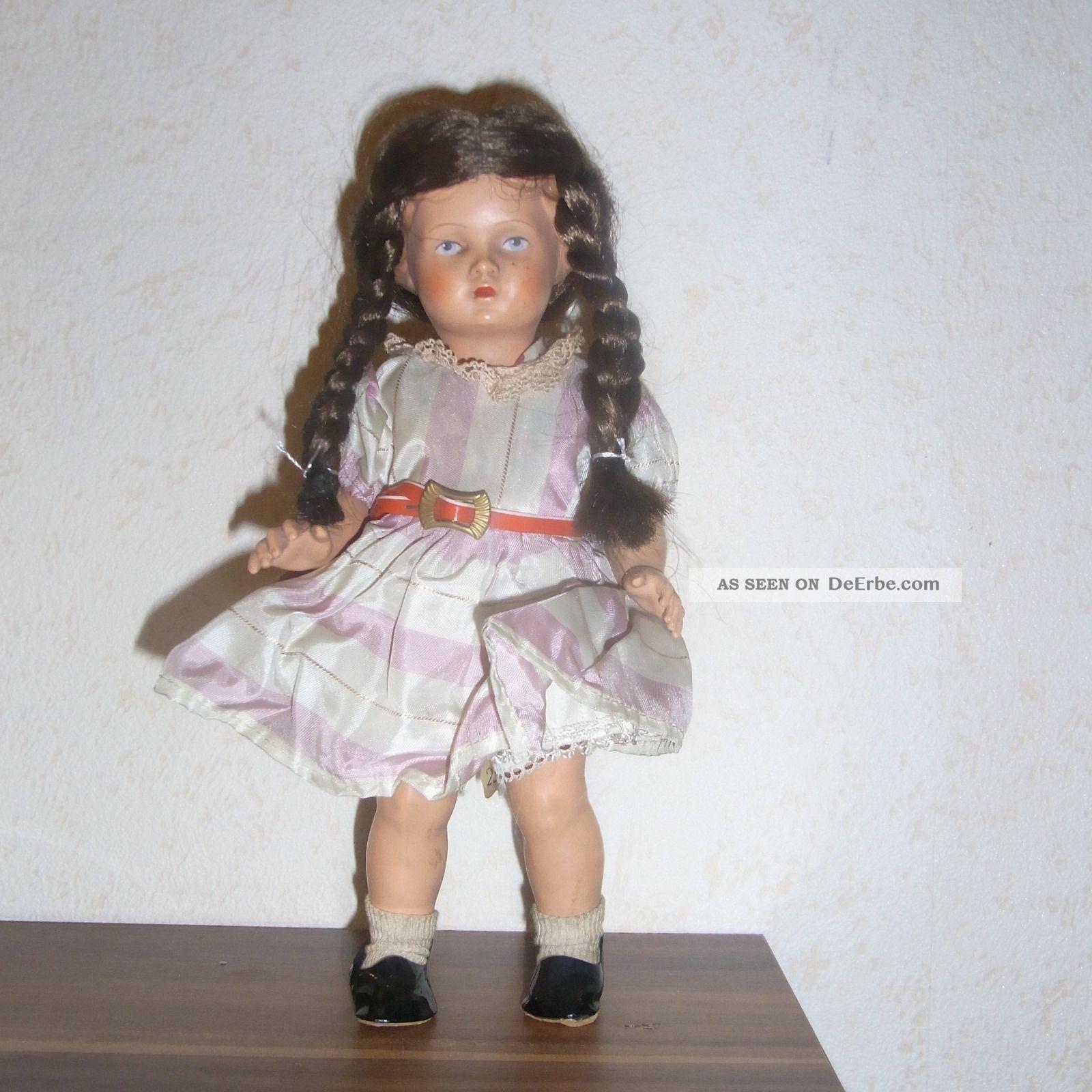 Alte Schildkröt - Puppe Mit Zöpfen.  Dachbodenfund Puppen & Zubehör Bild