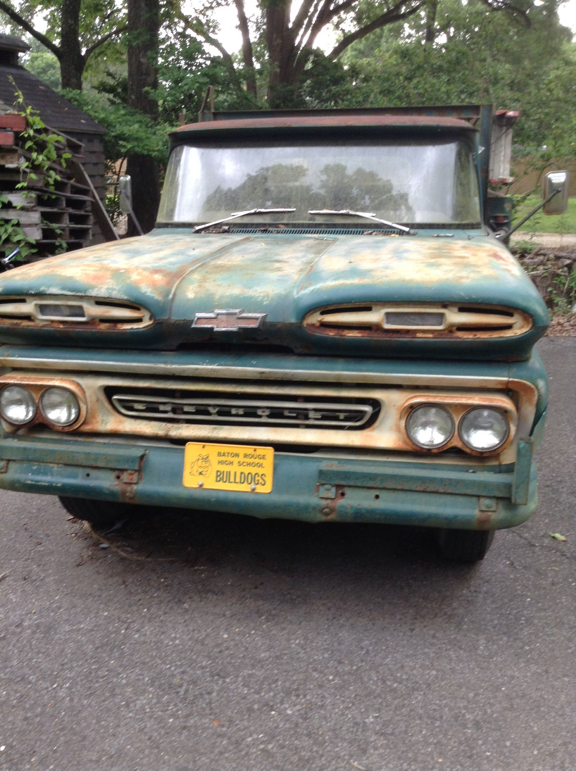 My Dads 1961 Chevy 1 Ton Pickup He Is The Second Owner And This Apache Truck Has Just Shy Of One Million Miles On Original Motor