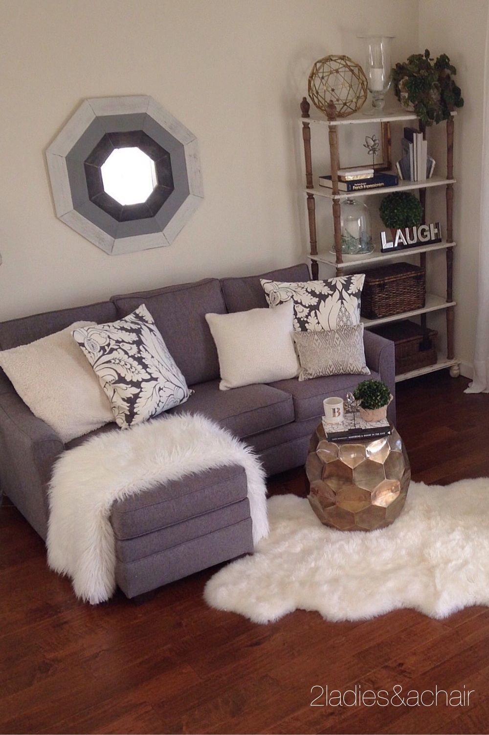 Storage In Plain Sight Small Apartment Decorating Living Room