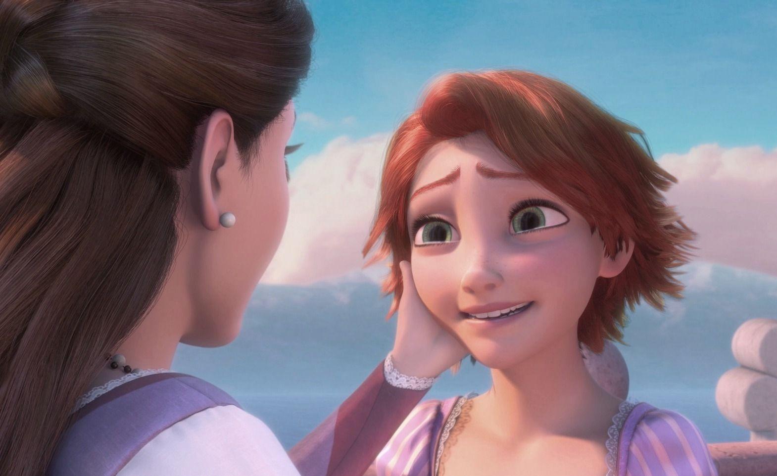 Ok I Want A Haircut Exactly Like That Rapunzel Short Hair Long Hair Styles Rapunzel