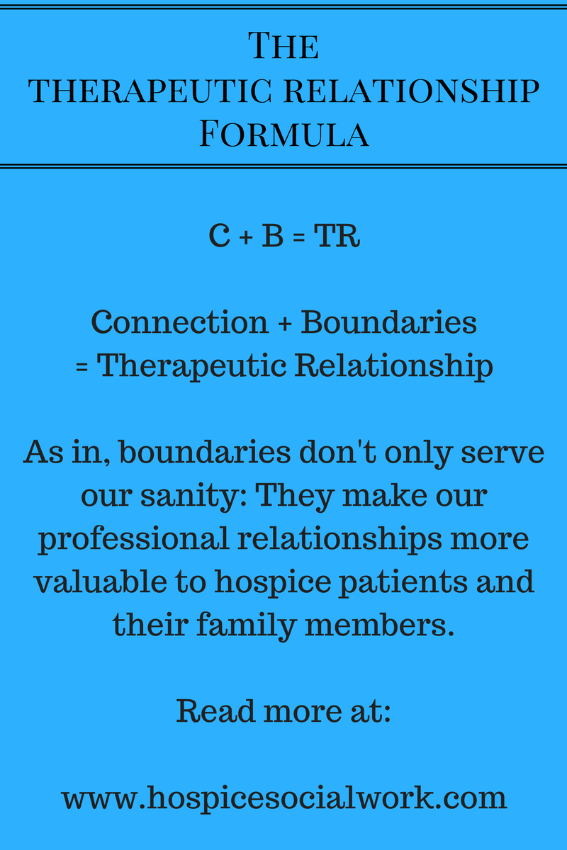 A tale of forming a new therapeutic relationship with a hospice patient.