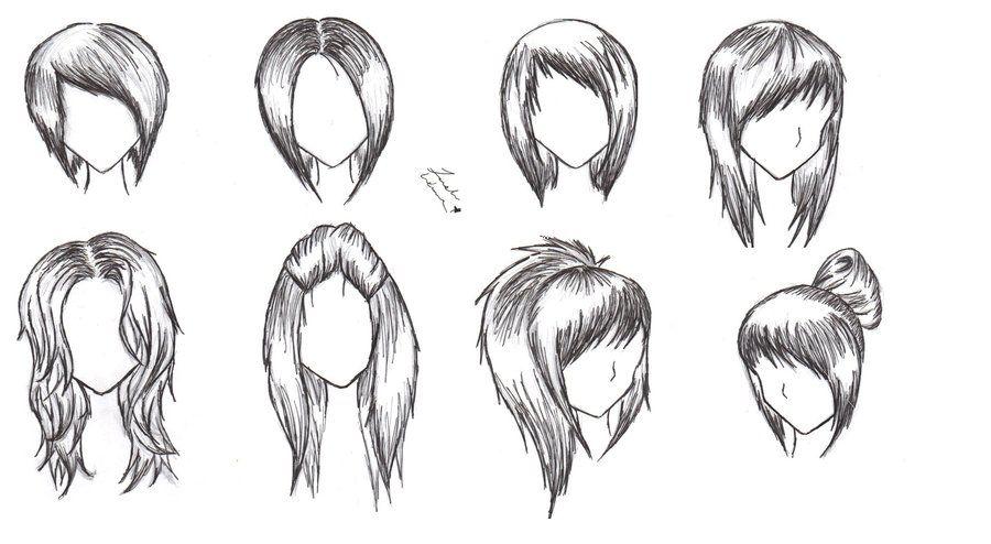 Hair Styles Sketching Hair Hair Trend 2017