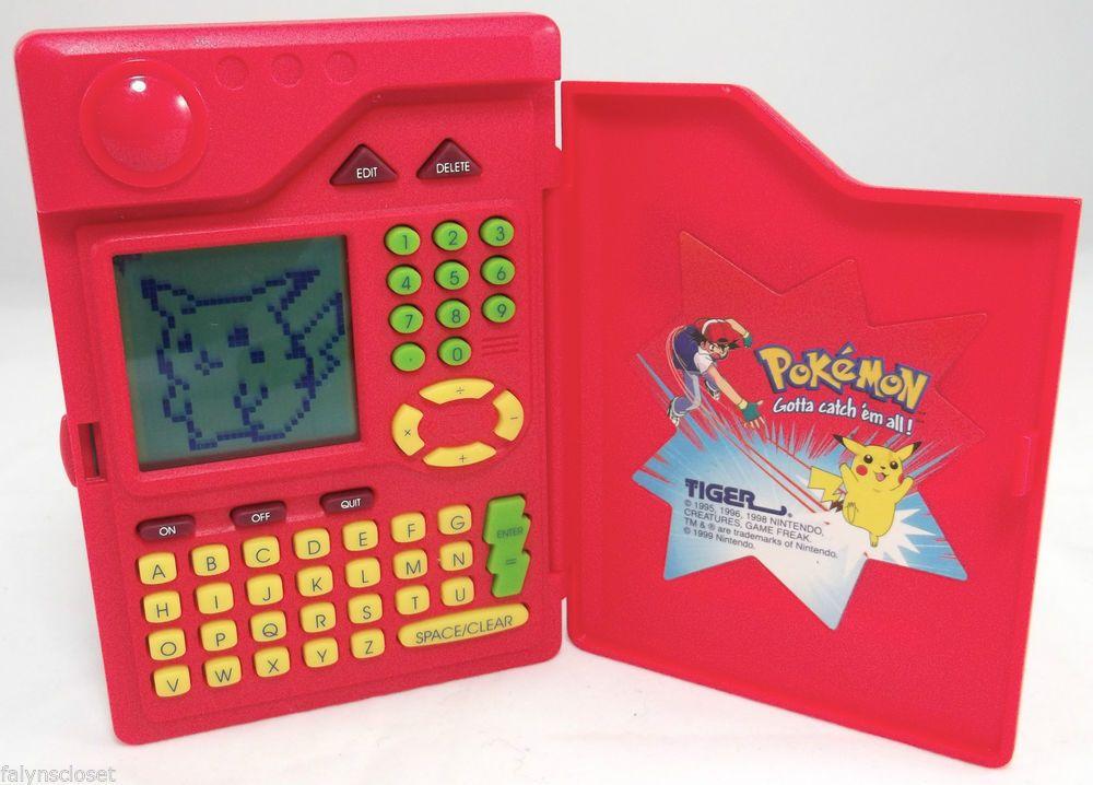 Pokemon Pokedex Tiger Electronic Handheld Game 1998 1st Gen Tested & Working