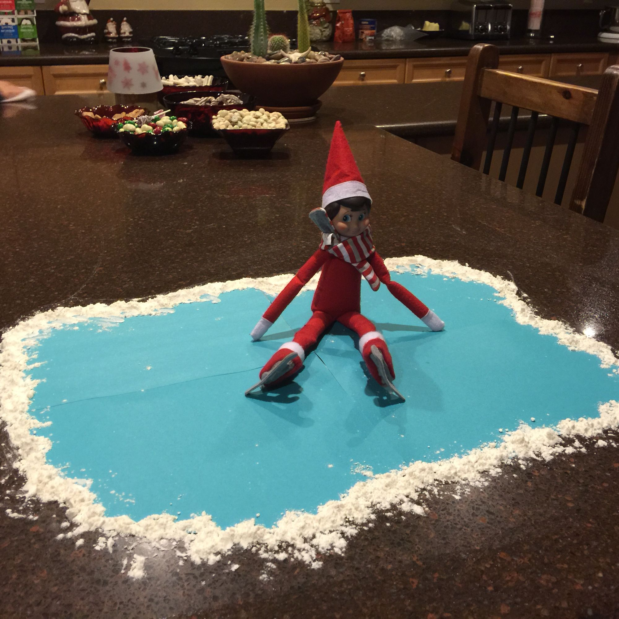 Christmas Ice Skating Rink Decoration: Elves, Shelves And