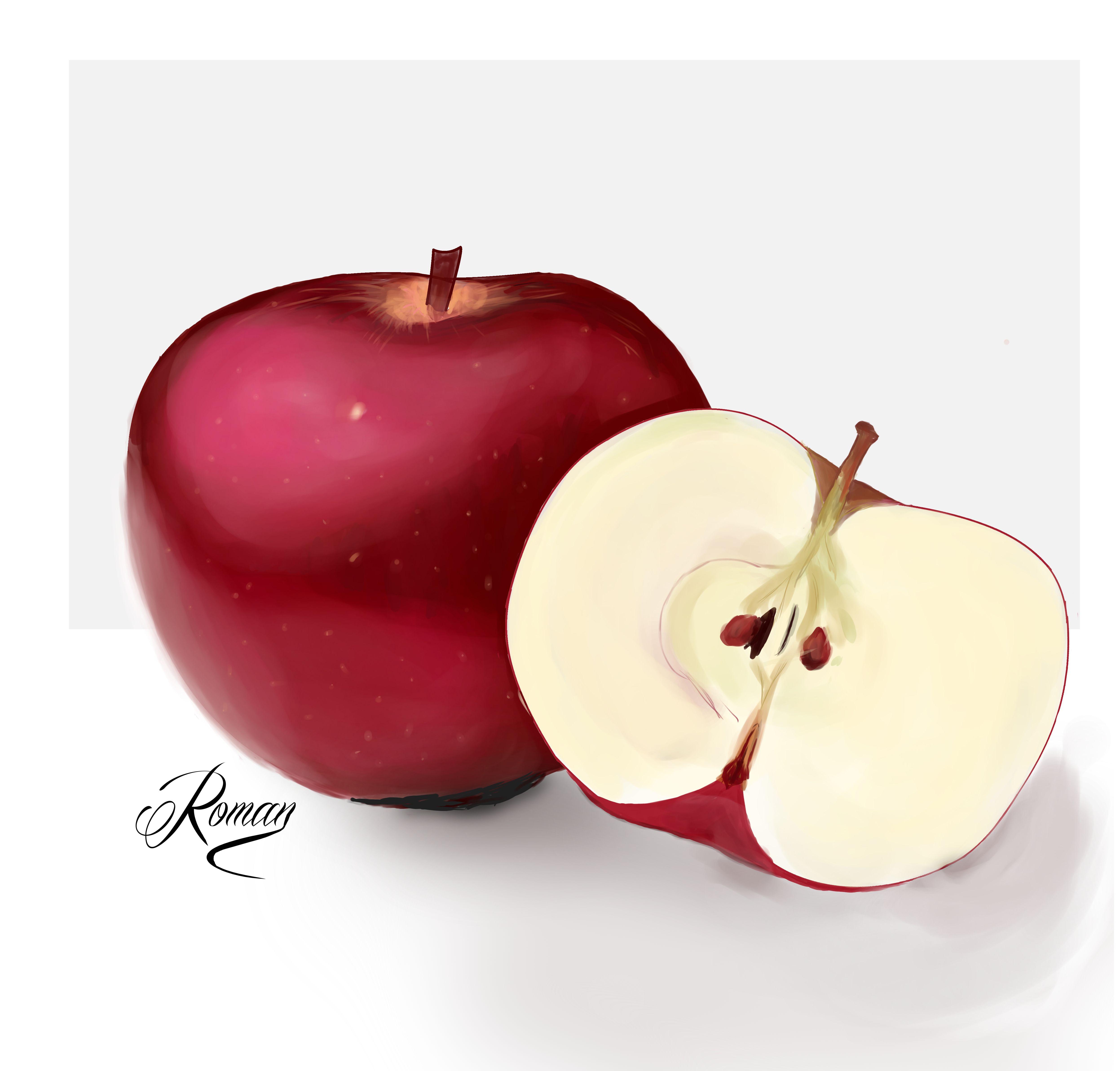 Dibujo Realista Manzana Manzanas Dibujo Dibujos Con Mandalas Manzana