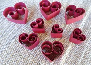 corações de papel para decorar