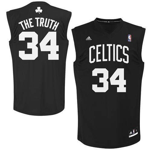 buy popular 4f8f8 56376 adidas Paul Pierce Boston Celtics The Truth Nickname Replica ...