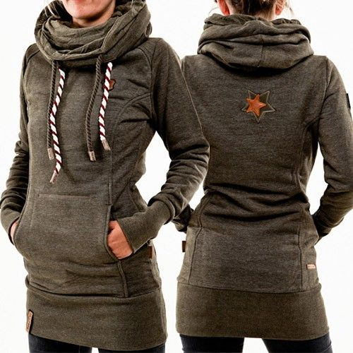 Mode Effen Kleur Lange Mouwen Slanke Pasvorm Lange Sweater , Kleding