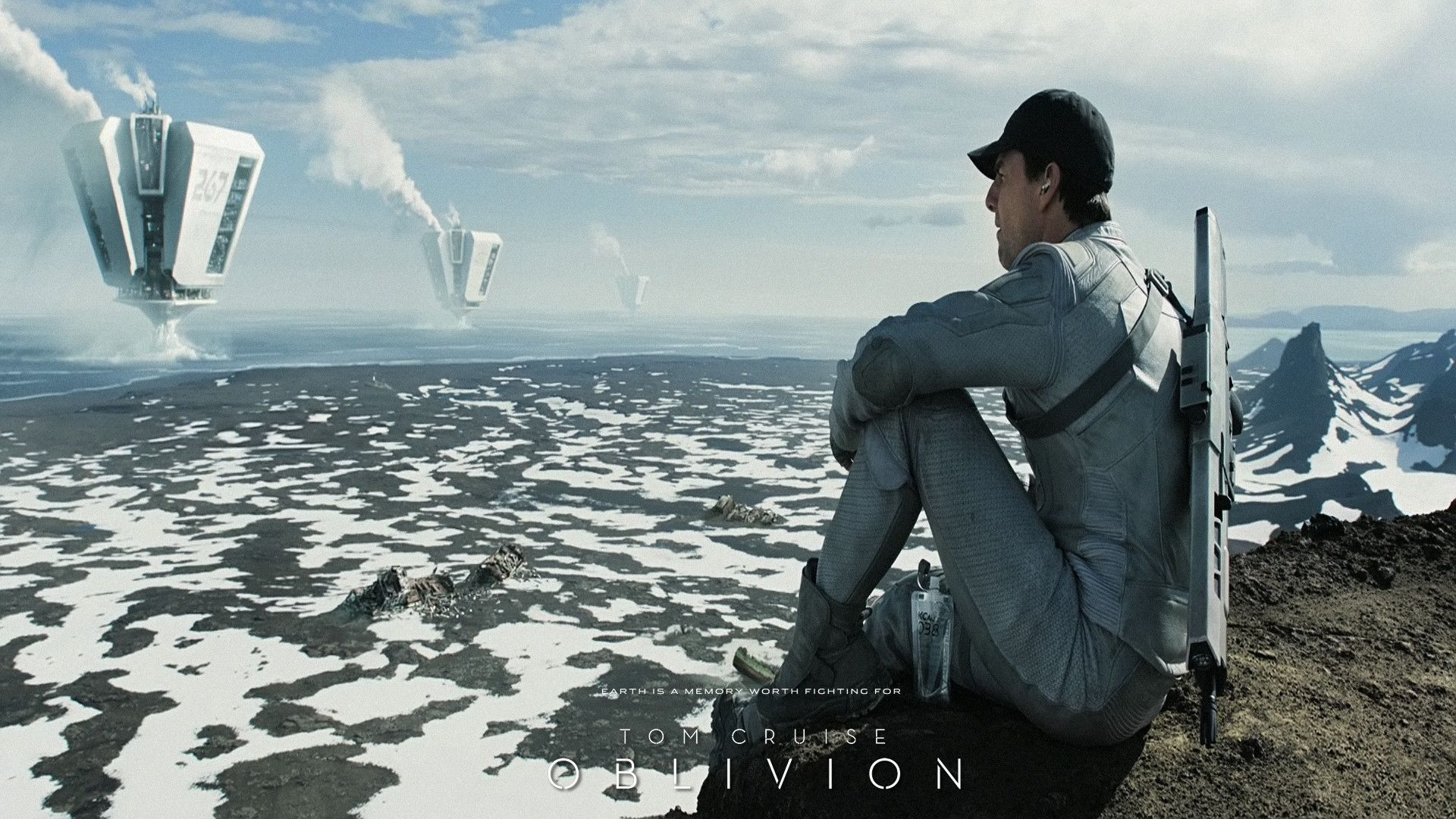 scifi themes oblivion movie wallpaper in hd resolution with tom