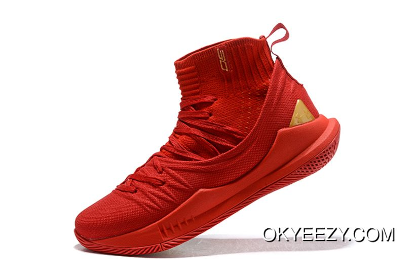 Latest Under Armour Curry 5 Chinese New Year Red Gold Men S Basketball Shoes Sneakers Red Basketball Shoes Curry 5 Curry 4 Shoes