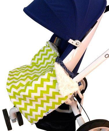 Love this Lime Chevron On the Go™ Blanket by Bella Bundles on #zulily! #zulilyfinds