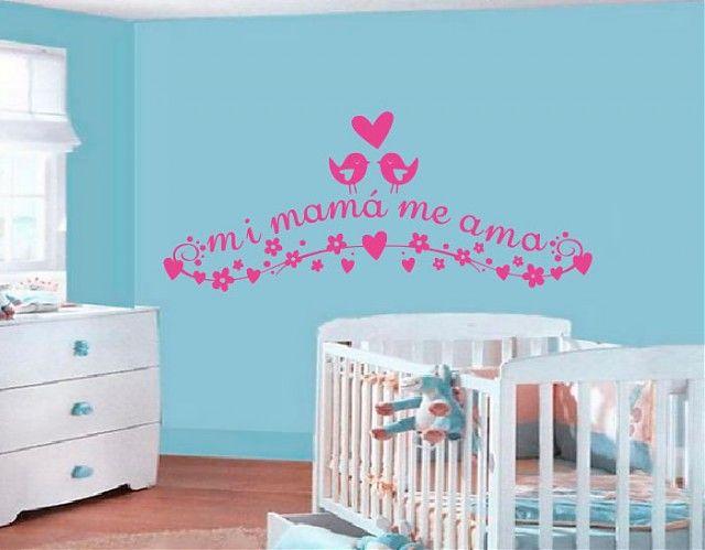 Ebre vinil vinilos decorativos para beb s mi mam me ama for Vinilos cuartos bebe