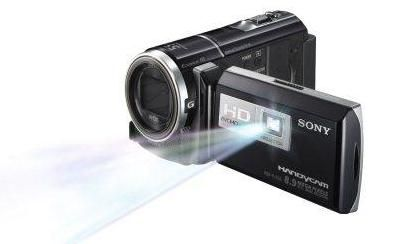 Sony HDRPJ260V High Definition Handycam 8.9 MP Camcorder with 30x Optical Zoom, 16 GB Embedded Memory and Built-in Projector (2012 Model) by Sony