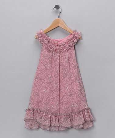 Take a look at this Pink & Gray Ruffle Yoke Dress - Infant & Toddler by Pink Vanilla on #zulily today!