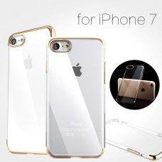 بيسوس كفر حماية ايفون7 بلاستيك قوي ذهبي و شفاف Iphone 7 Iphone Electronic Products