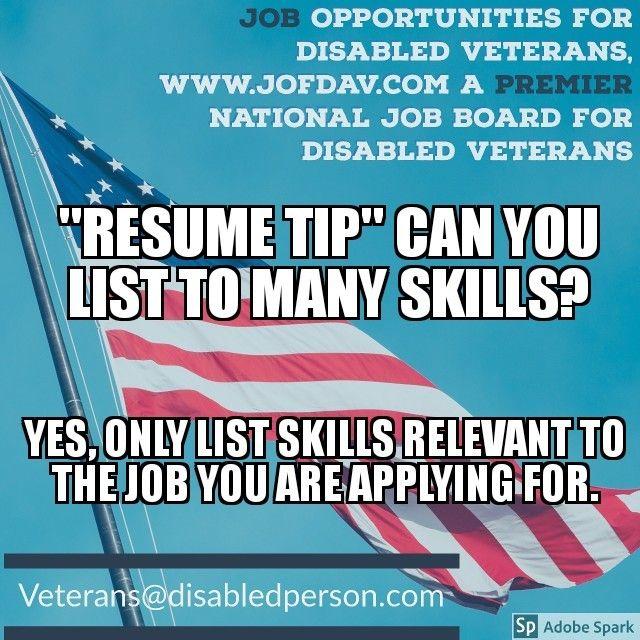 Job Opportunities for Disabled Veterans, wwwJOFDAV \