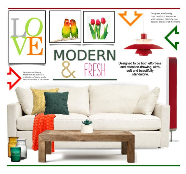 """""""Modern and Fresh.."""" by vkevans ❤ liked on Polyvore featuring interior, interiors, interior design, home, home decor, interior decorating, LZF, H&M, Flamant and Louis Poulsen"""
