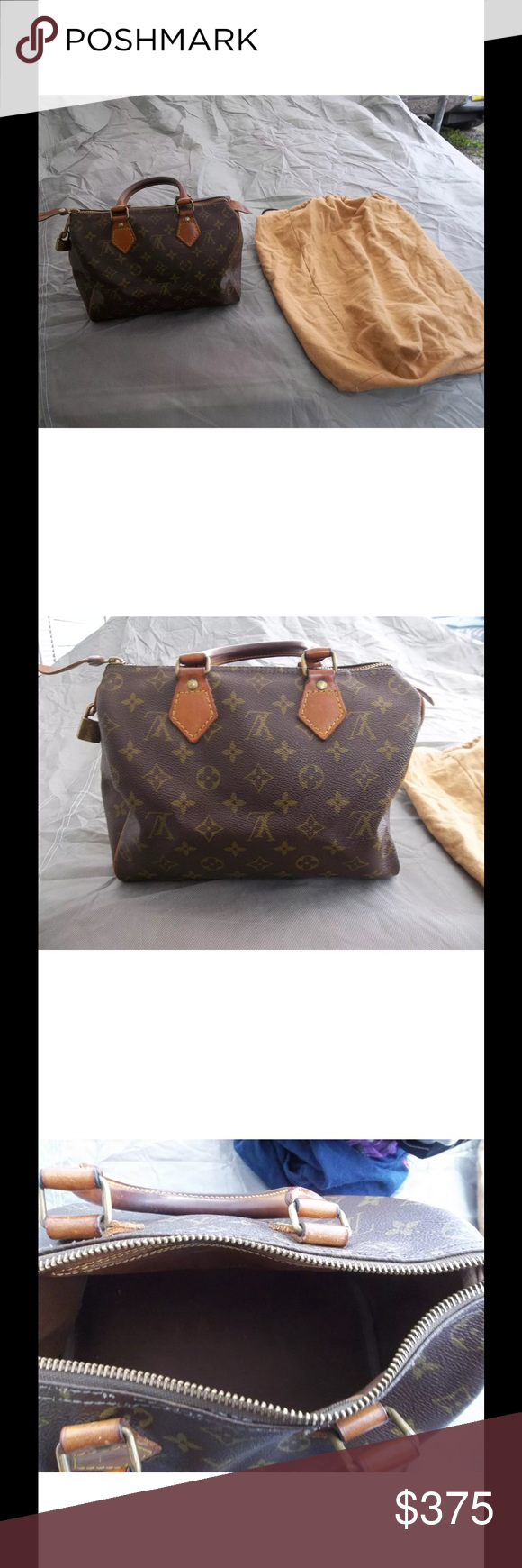 🌹Authentic LV speedy 25 LV speedy 25 Preowned in good condition see photos comes with dust bag & cosmetic case ( peeling inside) outside great condition 💥This is a bundle💥 Louis Vuitton Bags Mini Bags