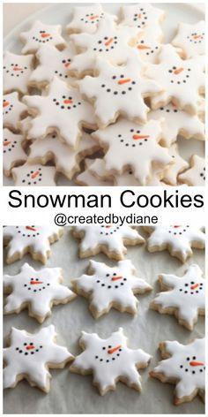 Snowman Snowflake Cookies Createdbydiane Winter Cookies Bake